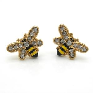 Jewelry - Bumble Bee Stud Earrings Gold Plated